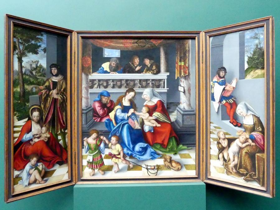 """Lucas Cranach der Ältere: Die Heilige Sippe (""""Torgauer Altar""""), 1509"""