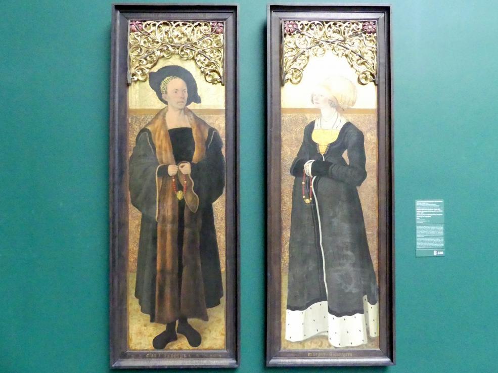 Meister der Stalburg-Bildnisse: Bildnisse des Claus Stalburg (1469-1524) und der Margarete Stalburg, geb. vom Rhein (1484-1550), 1504