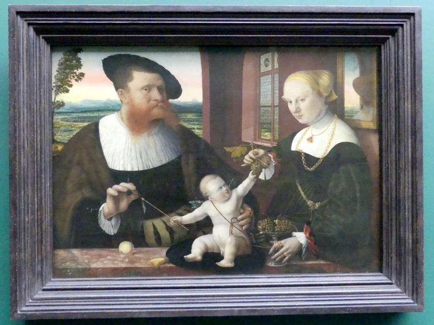 Conrad Faber von Kreuznach: Doppelbildnis Justinians von Holzhausen und seiner Frau Anna, geb. Fürstenberg, 1536