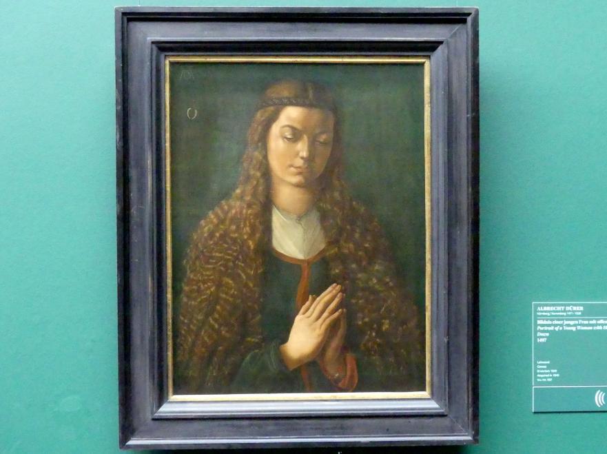 Albrecht Dürer: Bildnis einer jungen Frau mit offenem Haar, 1497