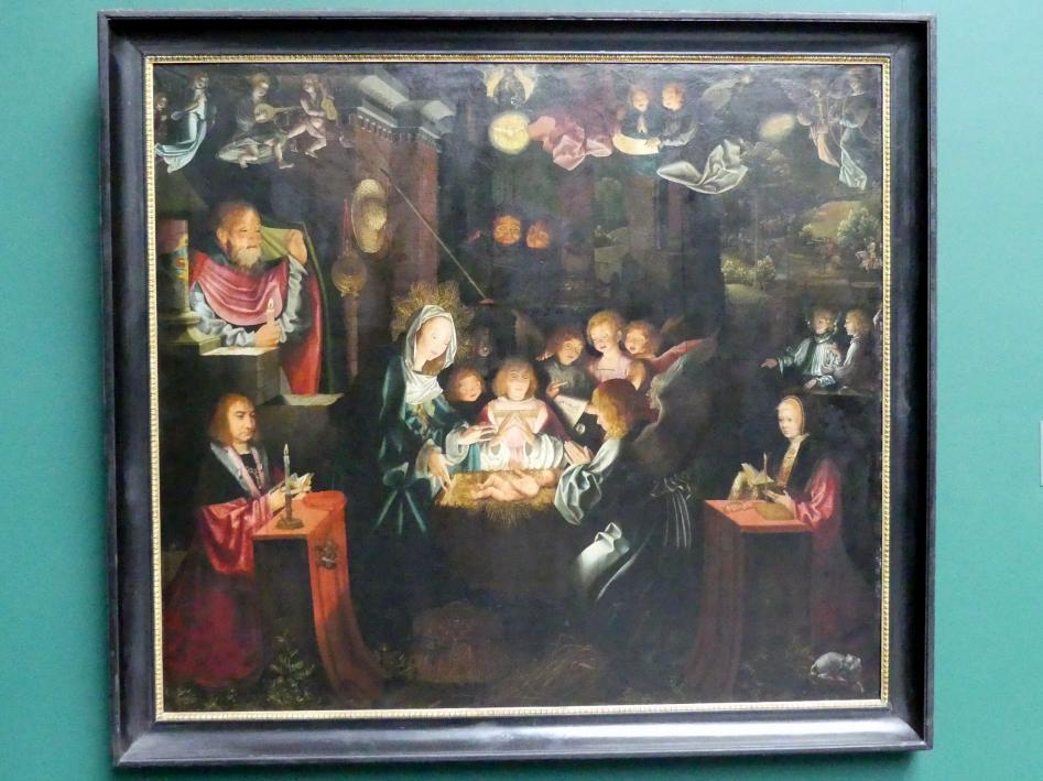 Bartholomäus Bruyn der Ältere: Geburt Christi mit den Stiftern Peter von Clapis (1480-1551) und Bela Bonenberg (gest. 1528), 1516