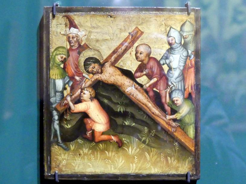 Meister der Passionstäfelchen: Kreuzanheftung, um 1400