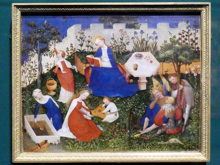 Oberrheinischer Meister: Das Paradiesgärtlein, um 1410 - 1420