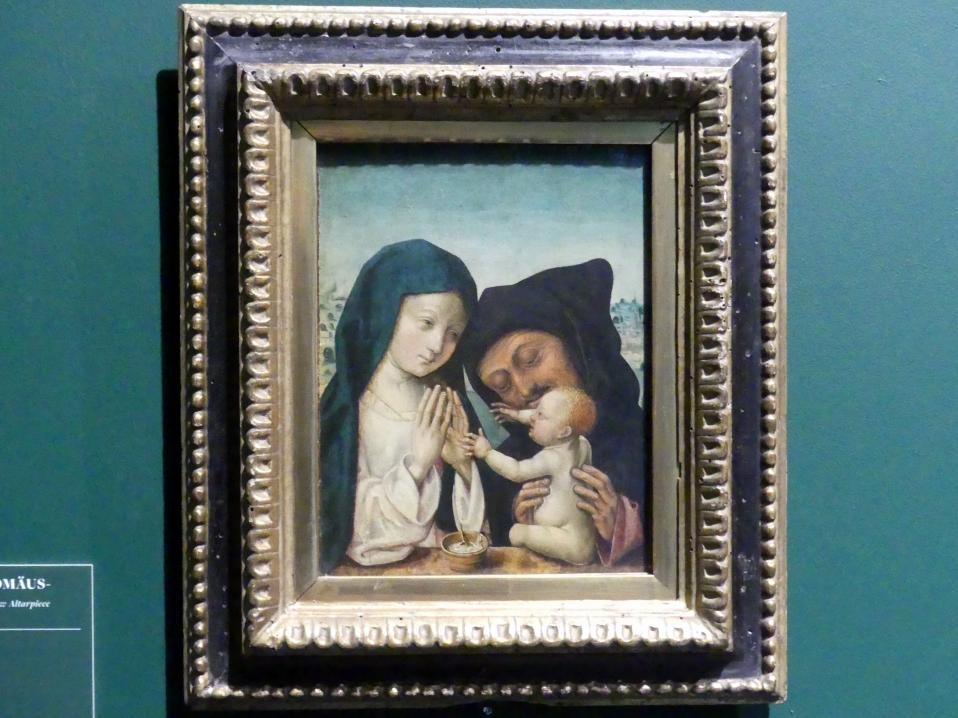 Meister des Bartholomäusaltars: Die Heilige Familie, um 1495 - 1500