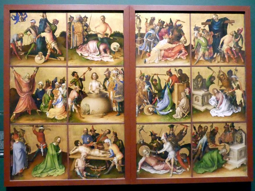 Stefan Lochner (Stephan Lochner): Die Apostelmartyrien, Um 1435