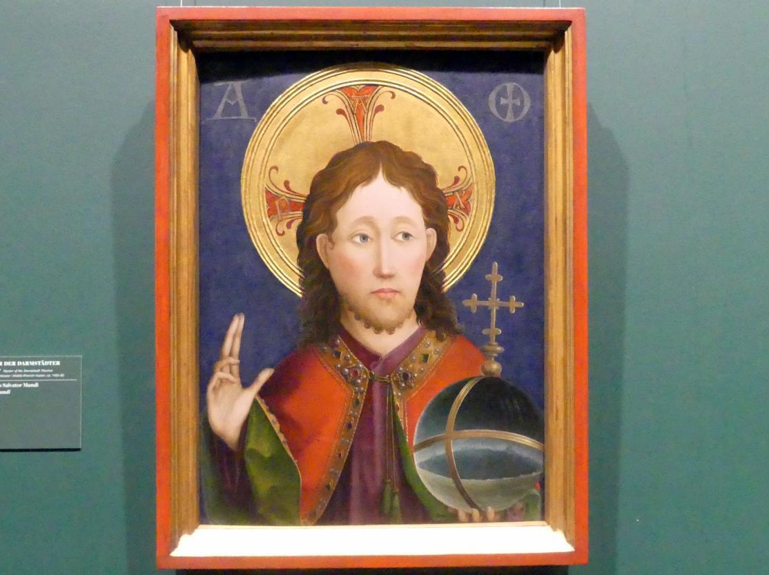Meister der Darmstädter Passion: Christus als Salvator Mundi, Um 1460