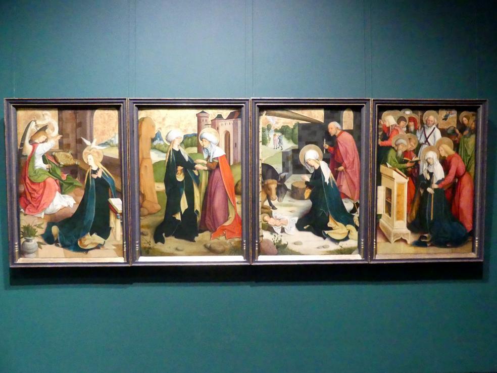 Meister des Pfullendorfer Altars: Pfullendorfer Altar: Verkündigung an Maria, Heimsuchung, Geburt Christi, Marientod, Um 1497 - 1503
