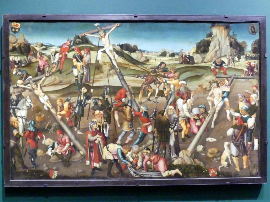 Die Kreuzbereitung: Christus in der Rast, Kreuzanheftung und Kreuzaufrichtung, Um 1510 - 1520