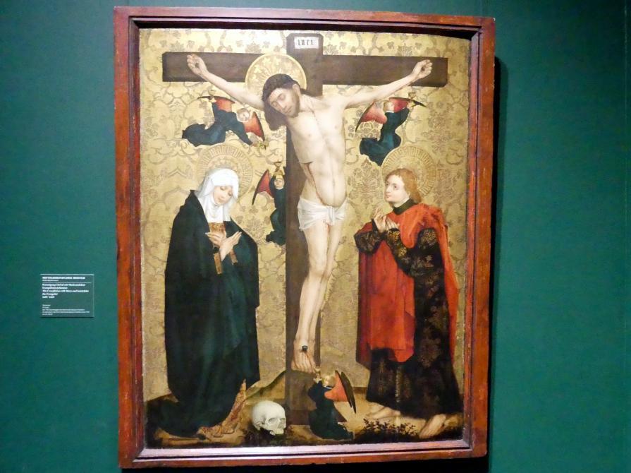 Kreuzigung Christi mit Maria und dem Evangelisten Johannes, um 1450 - 1460