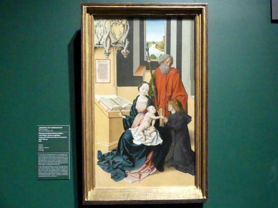 Meister von Großgmain: Madonna mit Kind und einem Stifter, vom heiligen Thomas empfohlen, 1483
