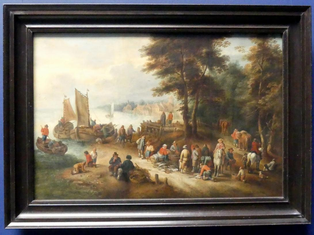Théobald Michau: Fischmarkt am Ufer, nach 1698
