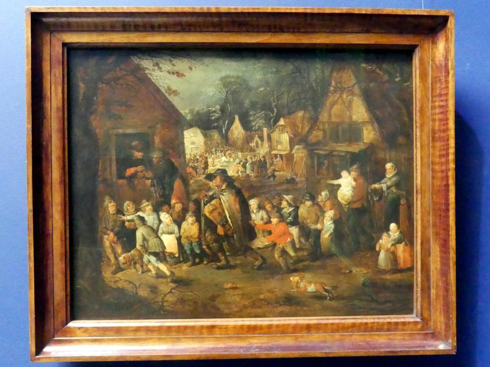 David Vinckboons (Nachfolger): Dorfkirmes mit blindem Drehorgelspieler, um 1610 - 1650