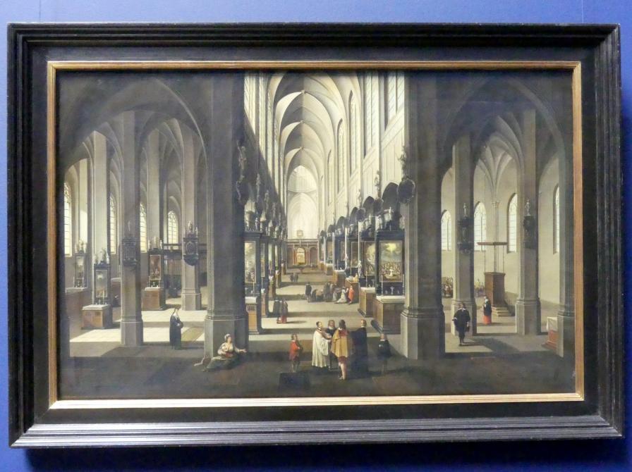 Peeter Neeffs der Jüngere (Werkstatt): Das Innere der Antwerpener Kathedrale, um 1655 - 1667