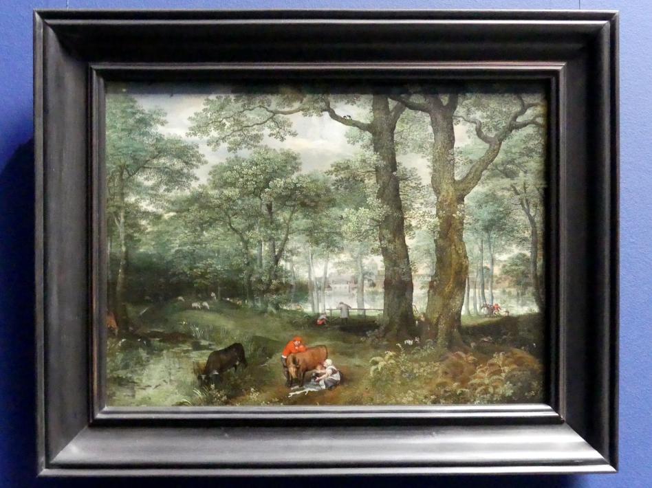 Lucas van Valckenborch: Viehweide unter Bäumen, 1573