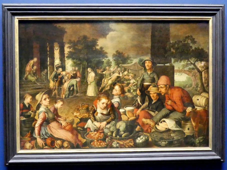 Pieter Aertsen: Marktstück mit Christus und der Ehebrecherin, 1559