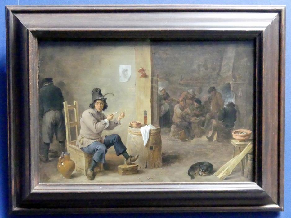 David Teniers der Jüngere: Der Raucher im Bauernwirtshaus, um 1659