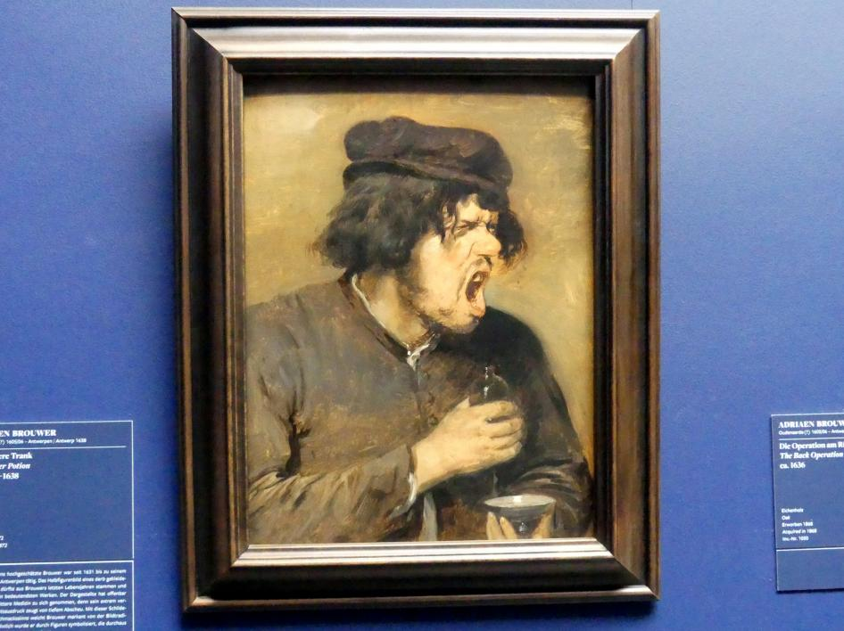 Adriaen Brouwer: Der bittere Trank, um 1636 - 1638