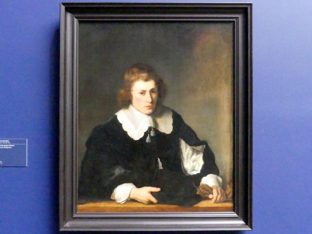 Ferdinand Bol: Bildnis eines jungen Mannes, 1644