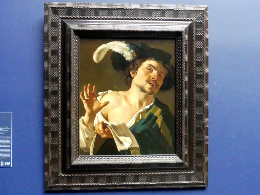 Dirck van Baburen: Singender junger Mann, 1622
