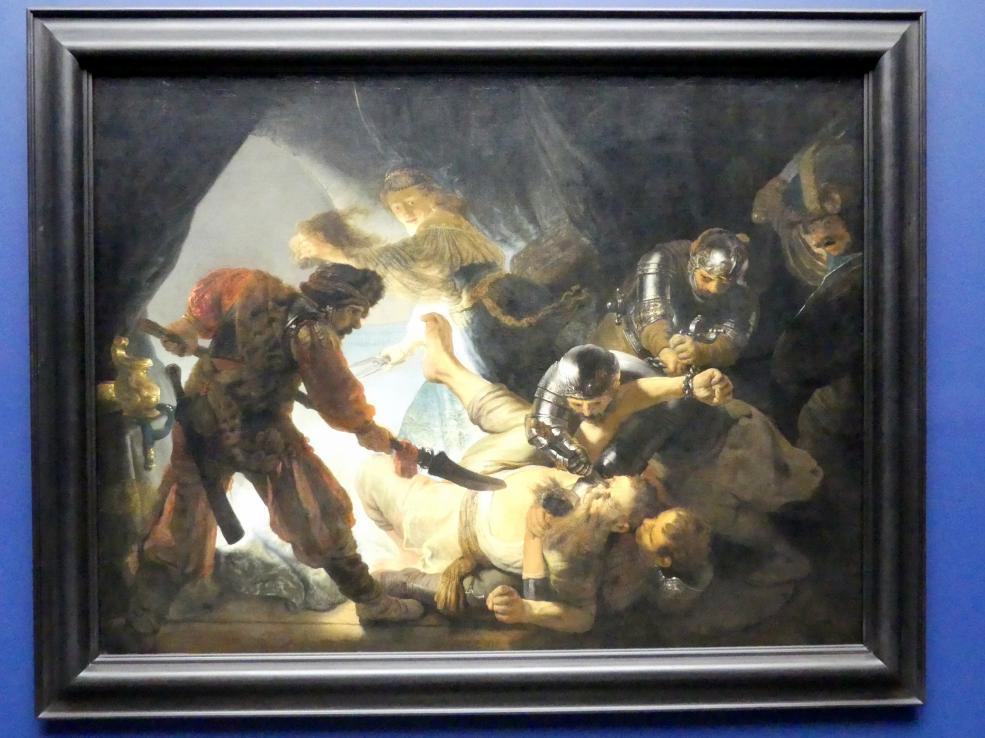 Rembrandt (Rembrandt Harmenszoon van Rijn): Die Blendung Simsons, 1636