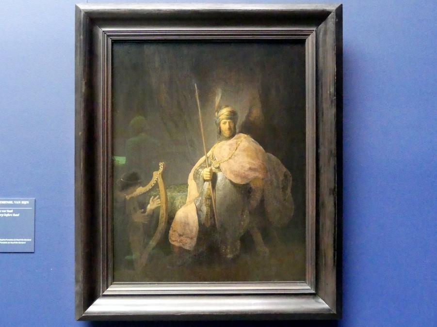 Rembrandt (Rembrandt Harmenszoon van Rijn): David spielt die Harfe vor Saul, um 1630 - 1631