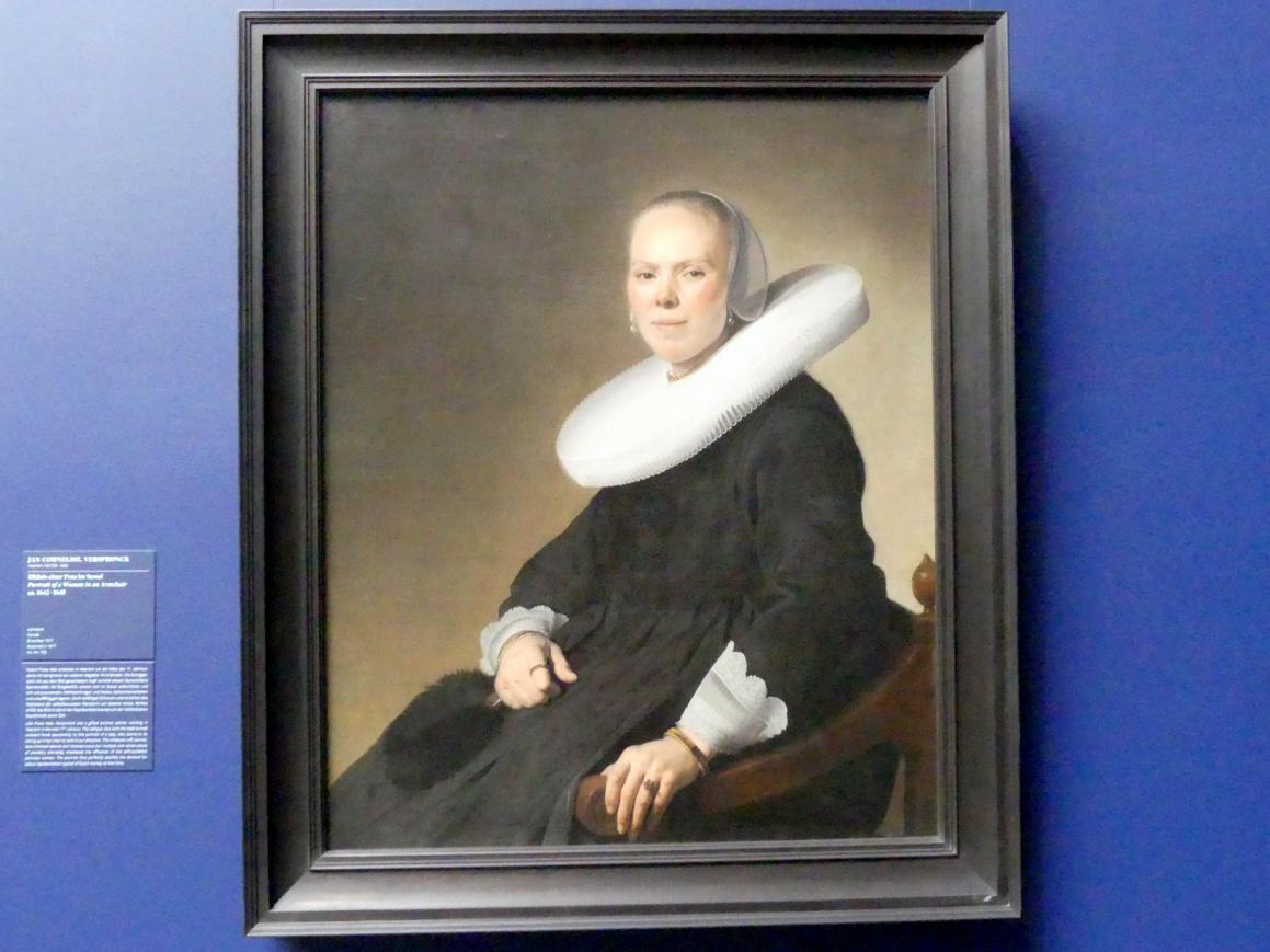 Jan Cornelisz Verspronck: Bildnis einer Frau im Sessel, um 1642 - 1645