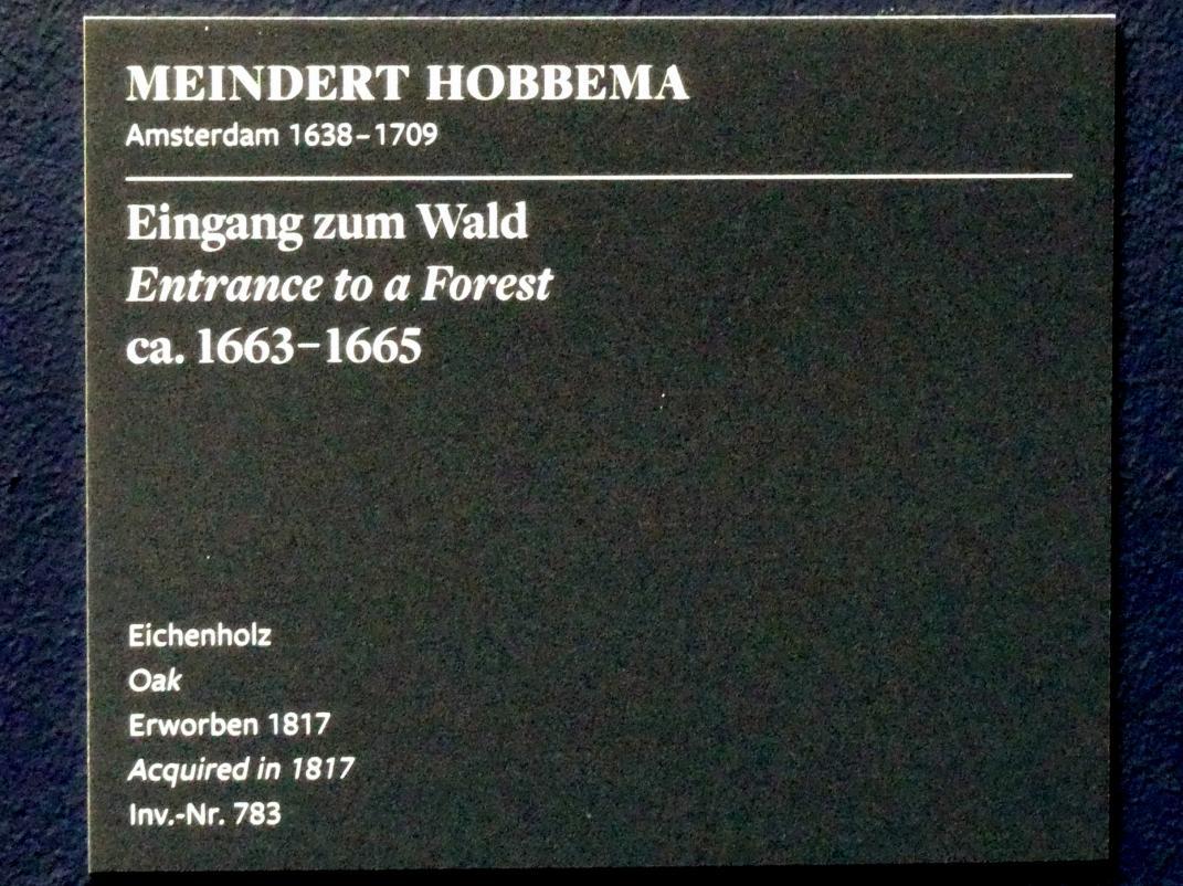 Meindert Hobbema: Eingang zum Wald, um 1663 - 1665, Bild 2/2