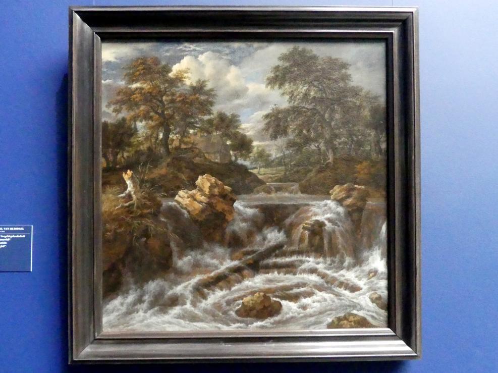 """Jacob van Ruisdael: Wasserfall in einer Vorgebirgslandschaft (""""Norwegischer Wasserfall""""), Um 1670"""