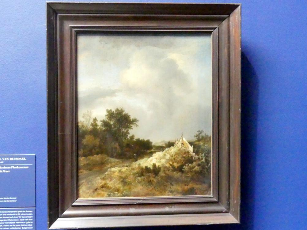 Jacob van Ruisdael: Dünenlandschaft mit einem Plankenzaum, um 1647