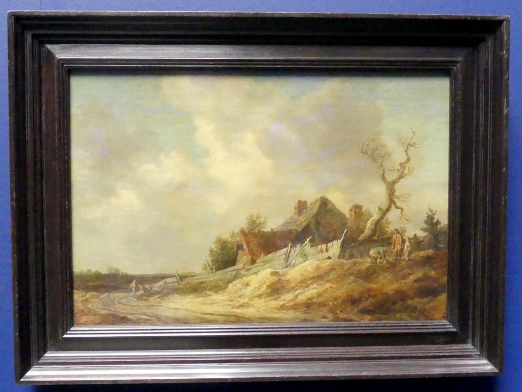 Jan van Goyen: Feldweg mit Bauernhaus und Plankenzaun, 1629