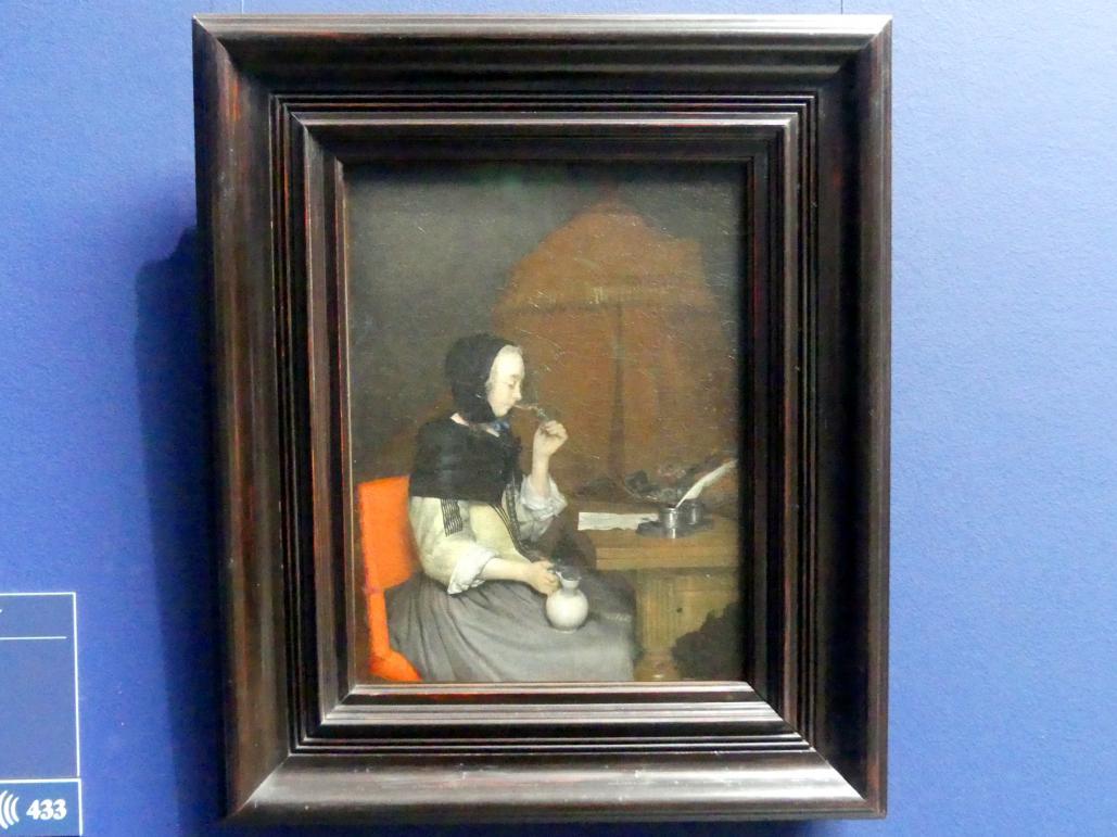 Gerard ter Borch: Dame mit Weinglas, Um 1656 - 1657