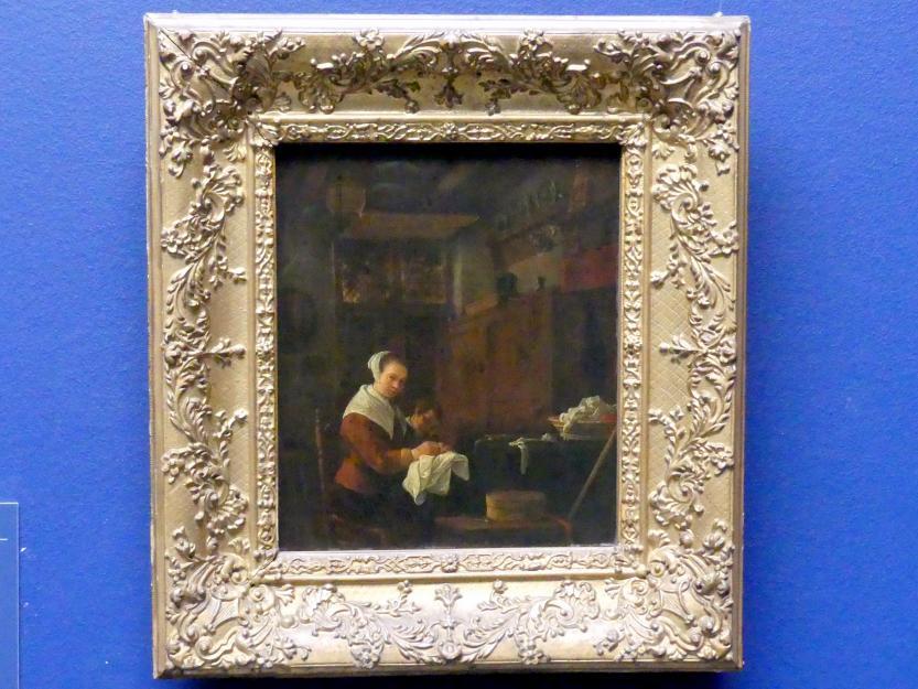 Thomas Wyck (Wijck): Frau am Nähtisch, Um 1655