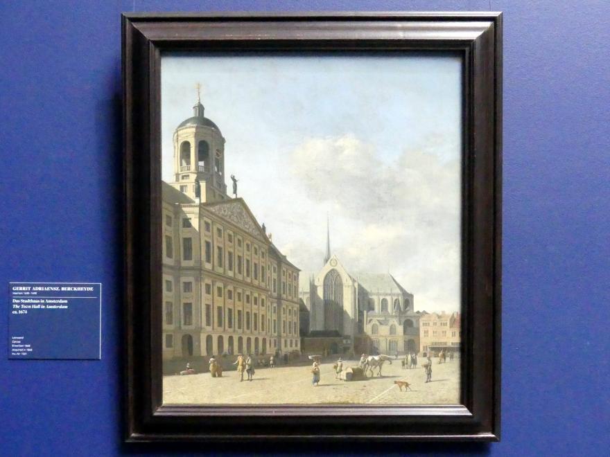 Gerrit Adriaenszoon Berckheyde: Das Stadthaus in Amsterdam, Um 1674
