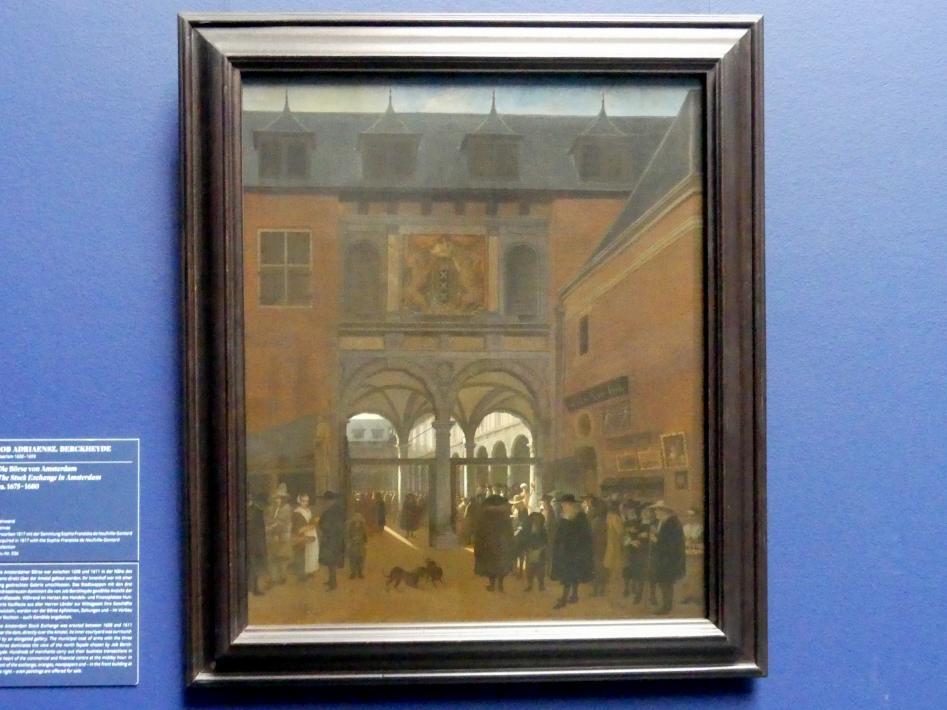 Job Adriaenszoon Berckheyde: Die Börse von Amsterdam, um 1675 - 1680