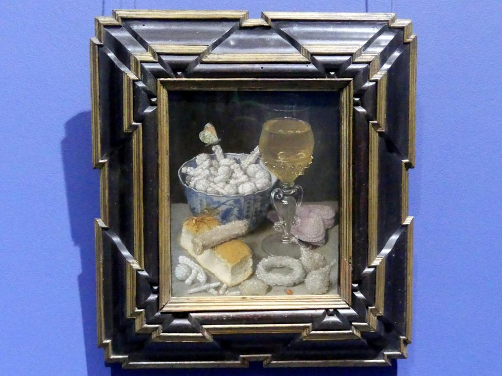 Georg Flegel: Stillleben mit Brot und Zuckerwerk, Um 1637