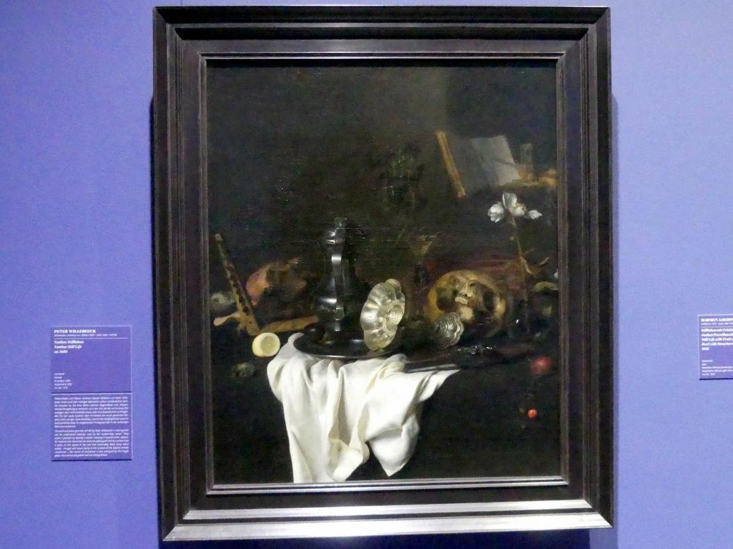 Peter Willebeeck: Vanitas-Stillleben, um 1650