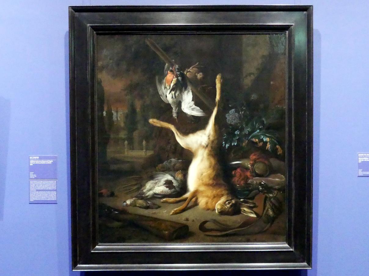 Jan Weenix: Stillleben mit totem Hasen und Vögeln, 1681