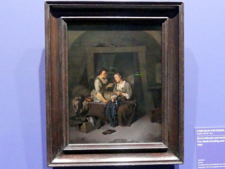 Cornelis Pietersz. Bega: Zwei trinkende und rauchende Dirnen, 1663