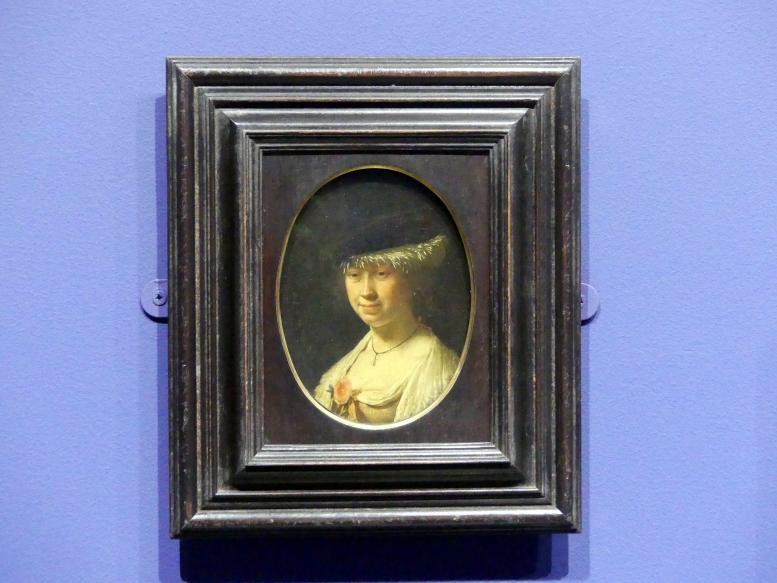 Frans van Mieris der Ältere: Bildnis einer Frau mit Barett, 1658