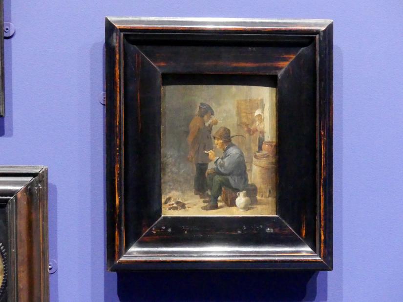 David Teniers der Jüngere: Zwei rauchende Bauern am Kohlenfeuer, um 1634