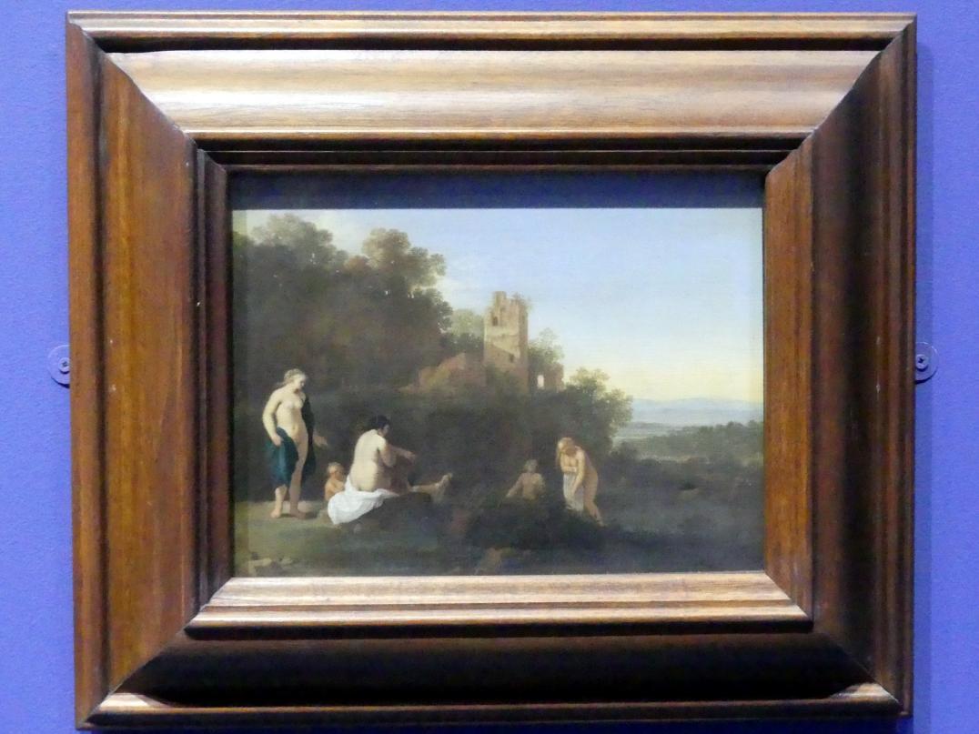 Cornelis van Poelenburgh: Landschaft mit der Entdeckung der Schwangerschaft der Callisto, um 1630 - 1640