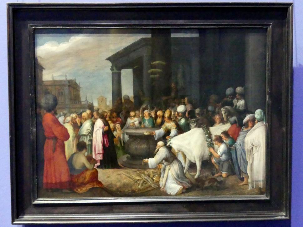 Adriaen van Stalbemt: Paulus und Barnabas werden in Lystra als Götter verehrt, Um 1610 - 1620