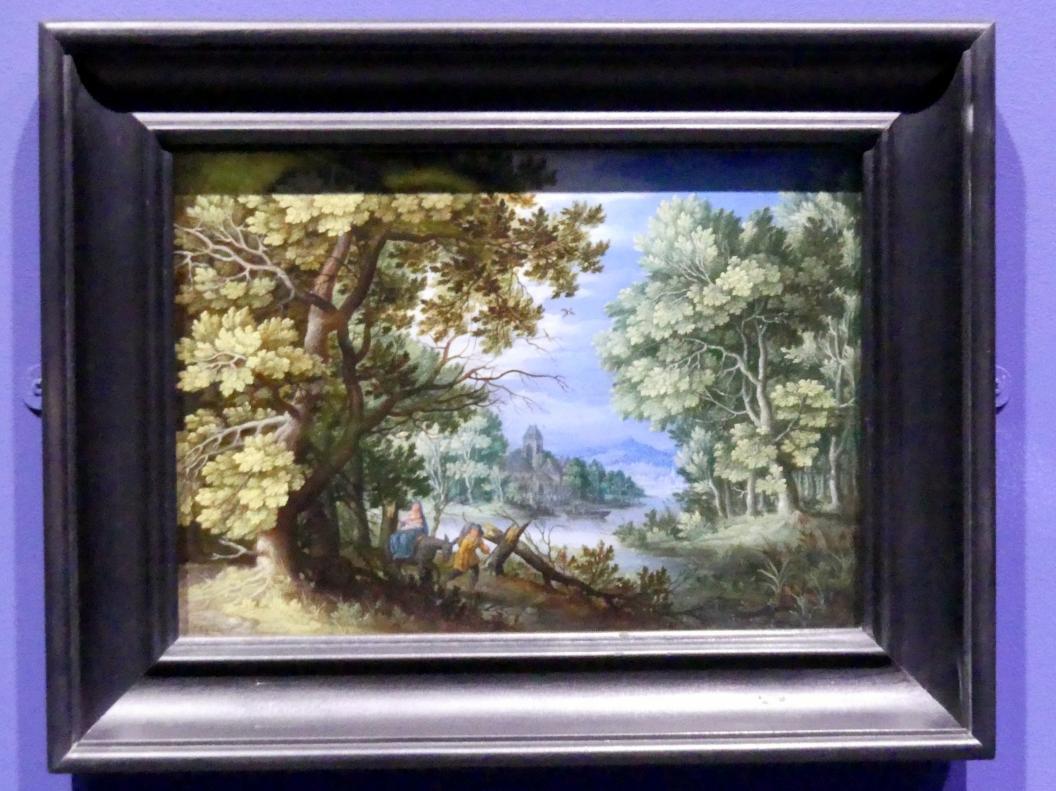 Jan Brueghel der Jüngere (Nachfolger): Waldlandschaft mit der Flucht nach Ägypten, um 1620 - 1650