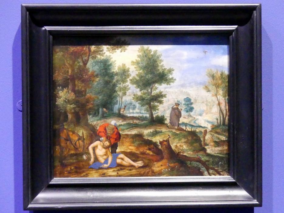 Pieter Stevens (Umkreis): Landschaft mit dem barmherzigen Samariter, um 1595 - 1600
