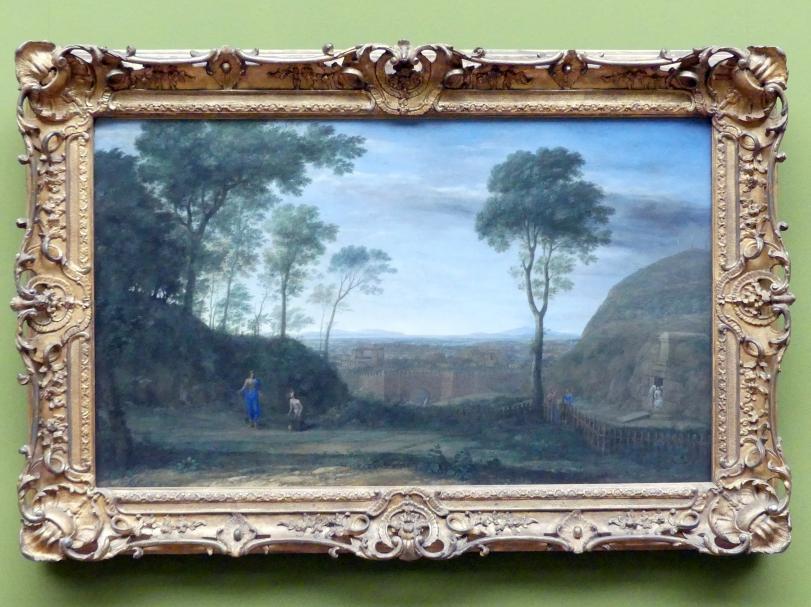 "Claude Lorrain (Claude Gellée): Landschaft mit Christus, der Maria Magdalena erscheint (""Noli me tangere""), 1681"