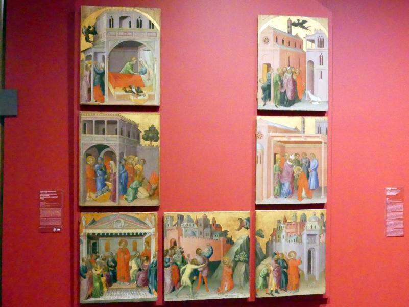 Martino di Bartolomeo: Sieben Szenen aus der Legende des heiligen Stephanus, Um 1390