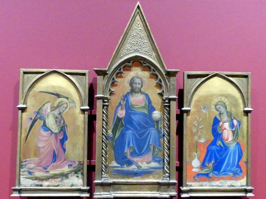 Gherardo Starnina: Christus als Salvator Mundi, Verkündigungsengel und Maria Annunziata, 1404 - 1407