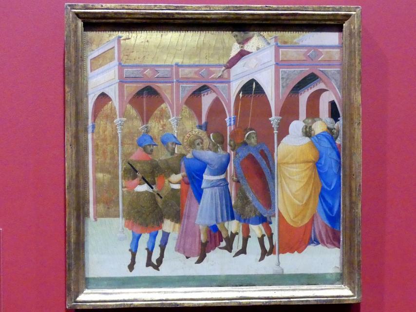 Bartolomeo Bulgarini: Blendung des heiligen Viktor, Um 1351