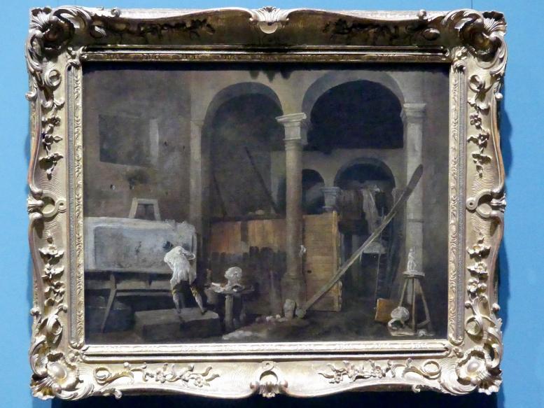 Hubert Robert: Das Atelier des Künstlers, um 1760