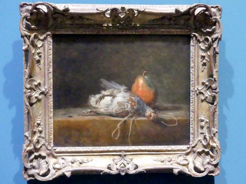 Jean Siméon Chardin: Stillleben mit Rebhuhn und Birne, 1748